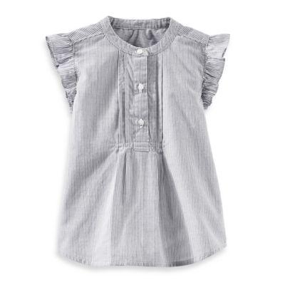 OshKosh B'gosh® Size 3T Woven Short Sleeve Top in Hickory Stripe