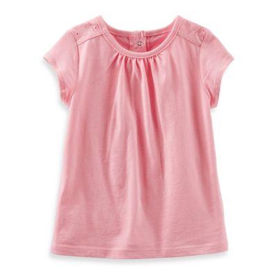 OshKosh B'gosh® Size 3T Eyelet Short-Sleeve Top in Pink