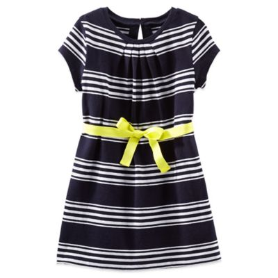 OshKosh B'gosh® Size 18M 2-Piece Jersey Dress in Navy Stripe