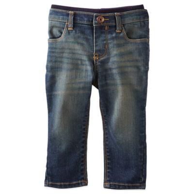 OshKosh B'gosh® Pull-On Denim Crop Pant in Moon Blue Wash