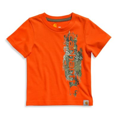 Carhartt® Size 2T Realtree Xtra® Vertical Camo Graphic T-Shirt in Orange