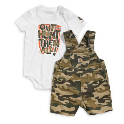 Carhartt® Size 18M 2-Piece Shortall and Bodyshirt Set in Brown Camo