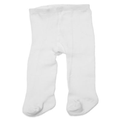 Planet Kids Size 12-24M Cotton Rich Tights in White
