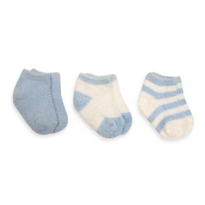 Planet Kids Size 0-12M 3-Pack Plush Quarter Socks in Blue/White