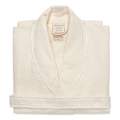 Kassatex KassaNilo Shawl Collection Unisex Bathrobe in Beige
