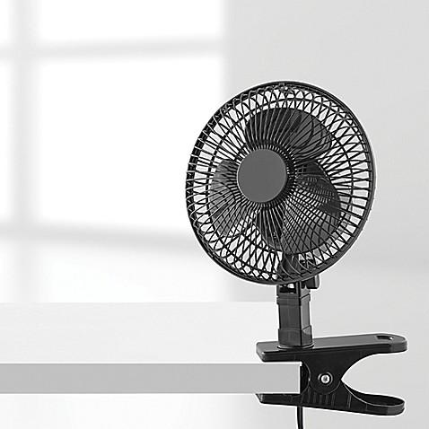 buy 6 inch clip fan from bed bath beyond. Black Bedroom Furniture Sets. Home Design Ideas