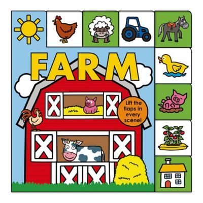"""""""Lift-the-Flap Tab: Farm"""" Board Book by Roger Priddy"""