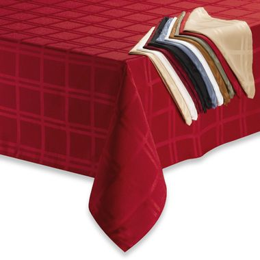Origins™ Microfiber 60-Inch x 84-Inch Oblong Tablecloth in Bone