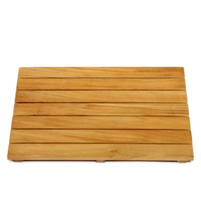 ARB Teak & Specialties 20-Inch x 14-Inch Teak Wood Shower Mat