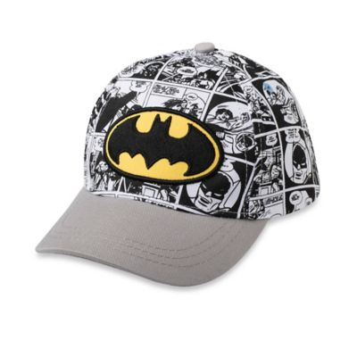 Toddler Batman Baseball Cap in Grey