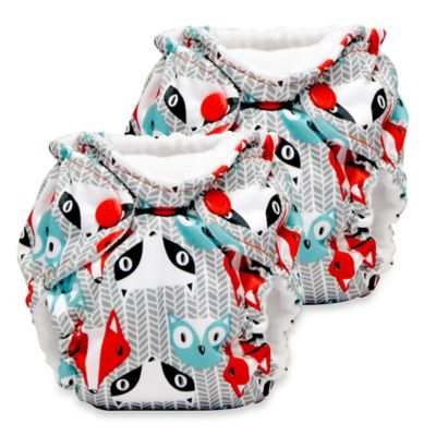 Kanga Care Lil Joey Newborn 2-Pack All-in-One Cloth Diaper in Clyde
