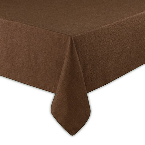 Basketweave Tablecloth - 70-Inch Square - Bark