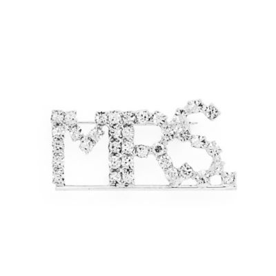 "AMY O. Bridal ""Mrs."" Rhinestone Brooch"