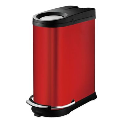 Soehnle 40-Liter Viva Trash Can in Red