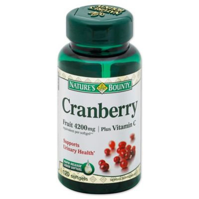 Herbal Harvest 100-Count Cranberry Concentrate + Vitamin C Softgels