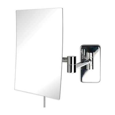 Jerdon 5X Rectangular Wall Mount Mirror in Nickel