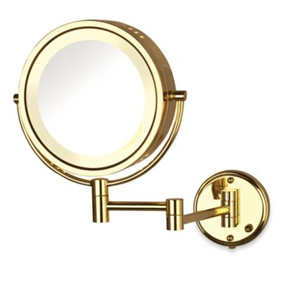 Jerdon 8X/1X Fog-Free Lighted Wall Mount Mirror in Bronze