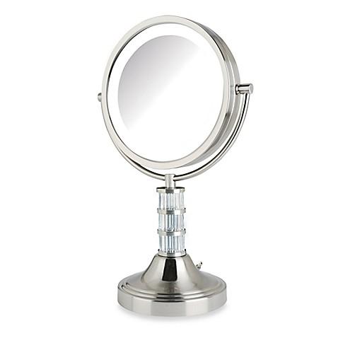 jerdon 8x 1x steuben column led lighted vanity mirror