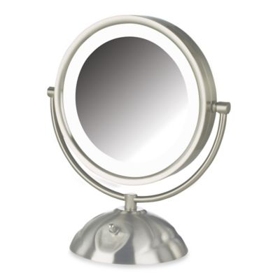 Brushed Nickel Makeup Mirrors