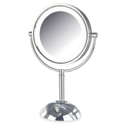 Lighted Vanity Mirror Chrome : Buy Jerdon 8X/1X LED Lighted Vanity Mirror in Chrome from Bed Bath & Beyond