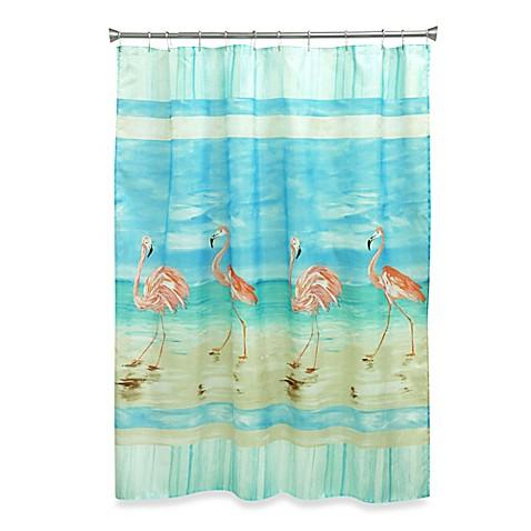 Flamingo Beach Shower Curtain Bed Bath Amp Beyond