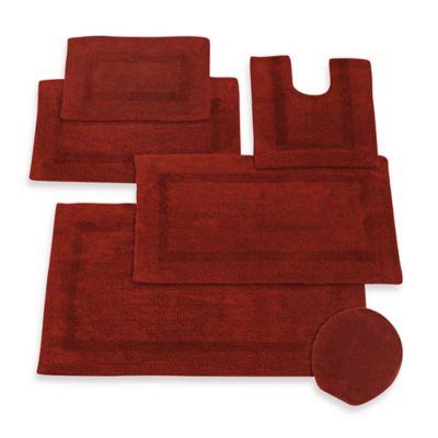 Fire Red Bath Rug