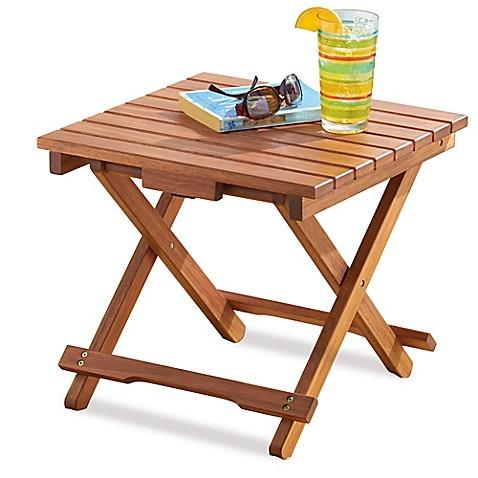 Resort Folding Wood Beach Table
