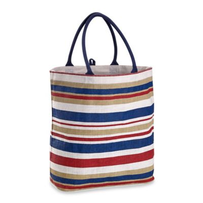 Americana Nantucket Striped Jute Tote