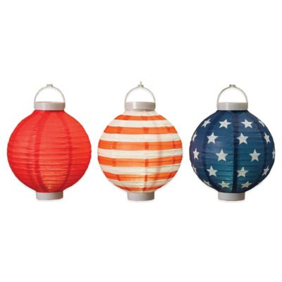 Americana Paper Lanterns (Set of 3)