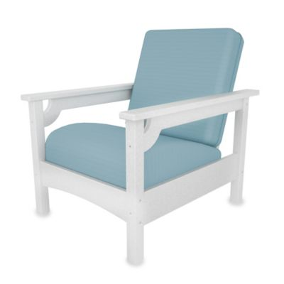 White Navy Arm Chair