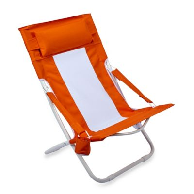 Folding Hammock Beach Chair in Orange