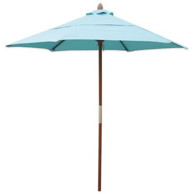 Resort 7-3/4-Foot Wood Beach Umbrella in Red
