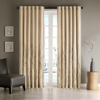 Andora 84-Inch Window Curtain Panel in Tan