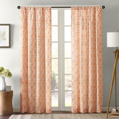 Orange Window Curtain Panels