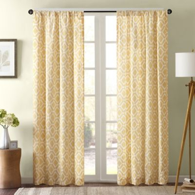 Delray Diamond Window Curtain Panel in Orange