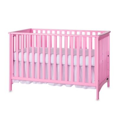 Child Craft™ London 3-in-1 Euro Style Convertible Crib in Pink