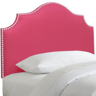 Skyline Furniture Nail Button Notched Twin Headboard in Duck Pink