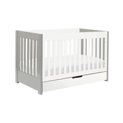 Babyletto Mercer 3-in-1 Convertible Crib in Grey/White