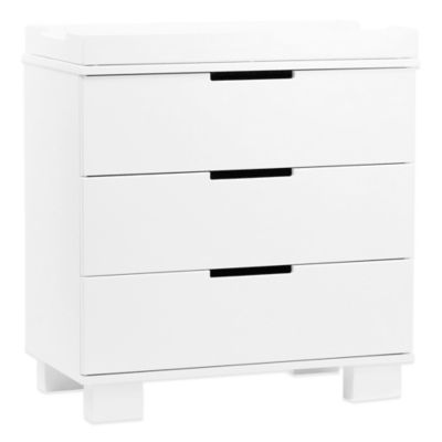 Dressers > Babyletto Modo 3-Drawer Changer Dresser in White
