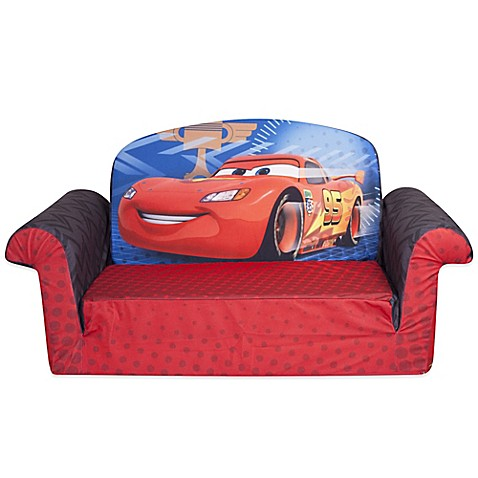 spin master marshmallow disney pixar cars 2 flip open sofa