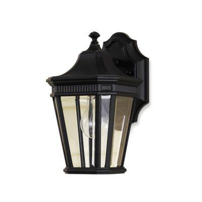 Feiss® Cotswold Lane Outdoor 11.5-Inch Wall Lantern in Black