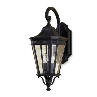 Feiss® Cotswold Lane Outdoor 20.5-Inch Wall Lantern in Black