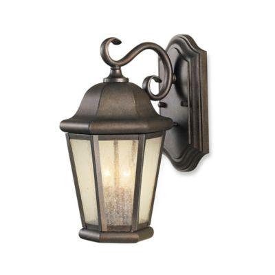 Feiss® Martinsville Outdoor 14.5-Inch Wall Lantern in Corinthian Bronze