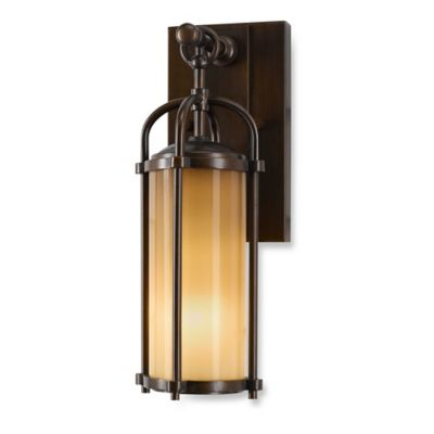 Feiss® Dakota Outdoor 13.25-Inch Wall Lantern in Heritage Bronze