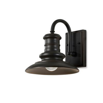 Feiss® Redding Station 9.7-Inch Outdoor Wall Lantern in Restoration Bronze