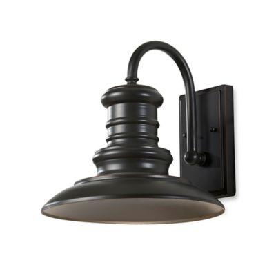 Feiss® Redding Station 12.5-Inch Outdoor Wall Lantern in Restoration Bronze