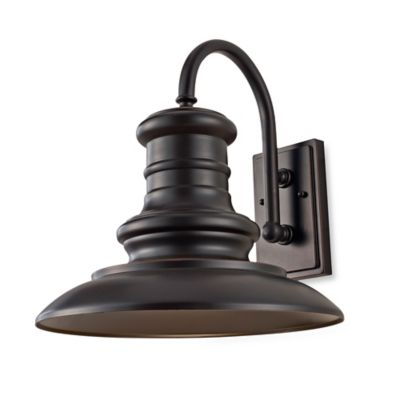 Feiss® Redding Station 9.7-Inch Outdoor Wall Lantern in Restoration Bronze