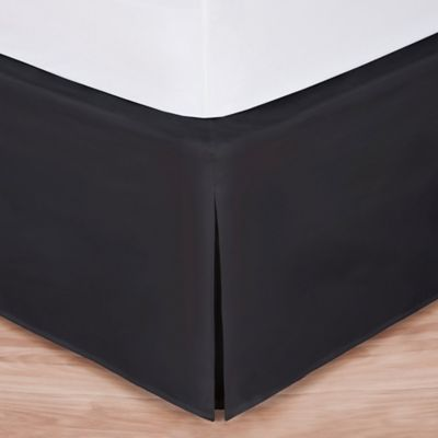 Wrap-Around Wonderskirt King Bed Skirt in Black