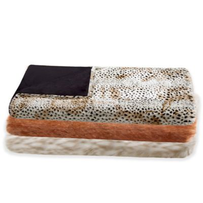 Madison Park Signature White Fox Faux-Fur Throw