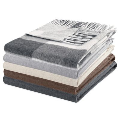Metropolitan Home Cashmere Throw in Dark Grey